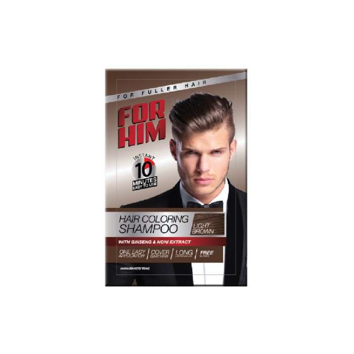FOR HIM HAIR COLORING SHAMPOO LIGHT BROWN- 30ML